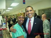 President Obama and Jyateia - Mrs. Nubian Hawaii 1997