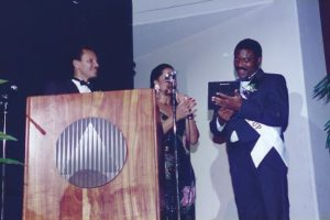 Cliff Weems accepting his award - 1993
