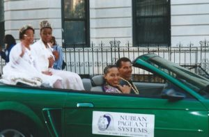 Janelle, Marely, Terri & Me in African American Day Parade.2000