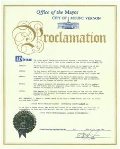Mt. Vernon Proclamation - New York 2001