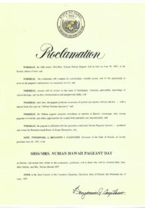 Proclamation from Governor 1997