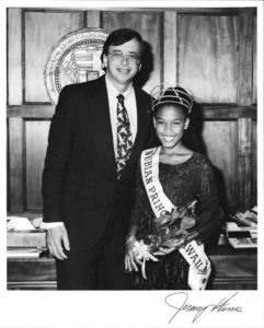 Safyia and Mayor Harris in May of 1995