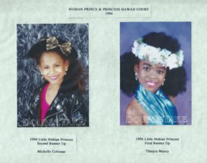 Thinya and Shelley in 1994 Princess Pageant